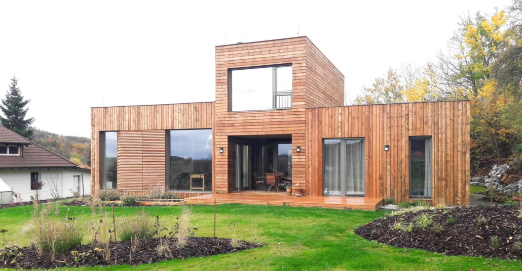 rodinný dům ze dřeva
